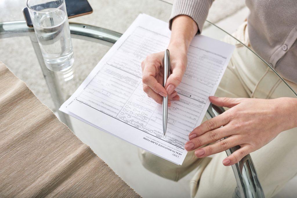 Filling health insurance claim